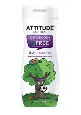 Champú ecológico para niños 2 en 1 Attitude 355 ml eco
