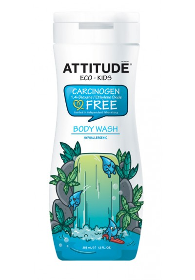 Gel de ducha ecológico para bebé Attitude 355 ml eco