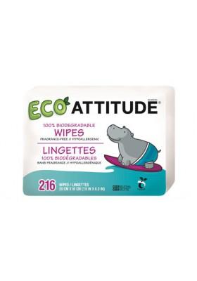 Toallitas bebé ecológicas Attitude PACK 3 x 72 unidades