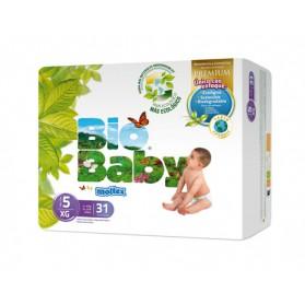 Pañales Bio Baby Talla 5 (12-16kg) 31uds
