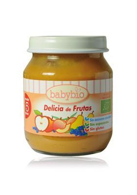 BABYBIO potitos ecológicos Delicia de Frutas 4M+ 2x 130gr
