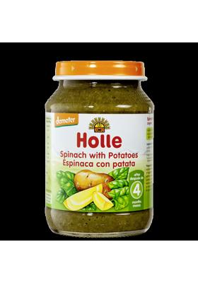 Potitos ecológicos Holle Espinacas con Patatas 4M+ 190gr