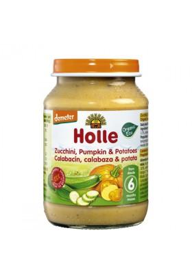 Potitos ecológicos Holle Calabacín, Calabaza & Patata 4M+ 190gr
