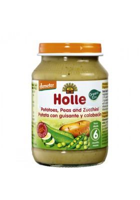 Potitos ecológicos Holle Patata, Guisante & Calabacín 6M+ 190gr