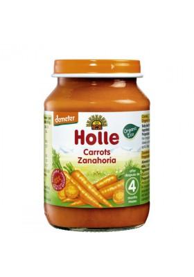 Potitos ecológicos Holle Zanahoria 4M+ 190gr