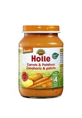 Potitos ecológicos Holle Zanahoria & Patata 4M+ 190gr