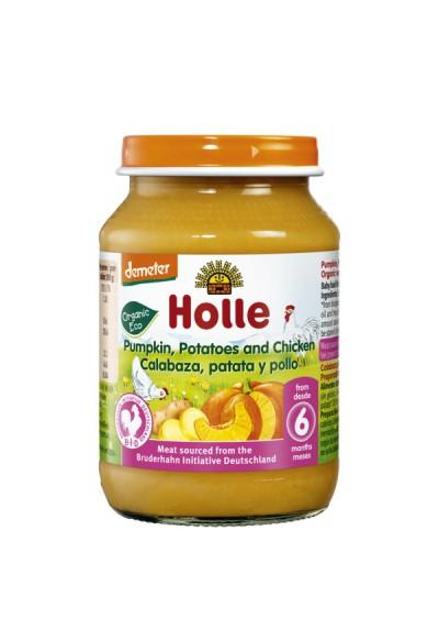 Potitos ecológicos Holle Calabaza Patata & Pollo 6M+ 190gr