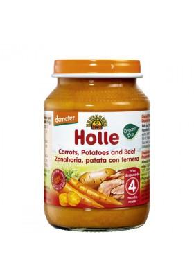 Potitos ecológicos Holle Zanahoria Patata & Ternera 6M+ 190gr