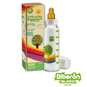 Biberón ICO Baby de cristal 240ml