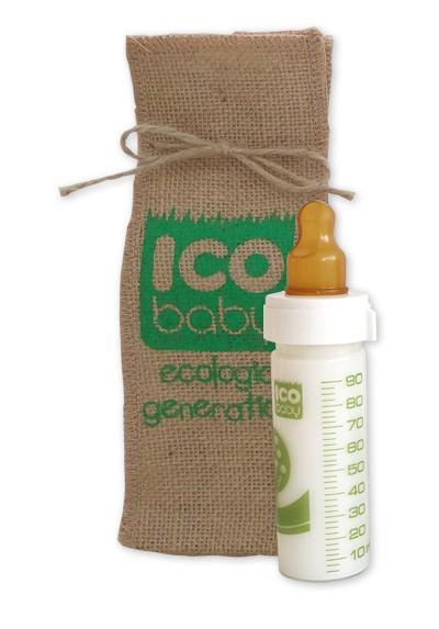 Biberones ecológicos ICO BABY de cristal 90ml