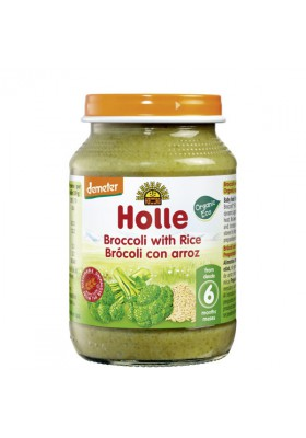 Potitos ecológicos Holle Brocoli y Arroz 6M+ 190gr