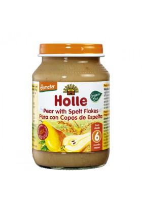 Potitos ecológicos Holle Pera con Copos de Espelta 6M+ 190gr
