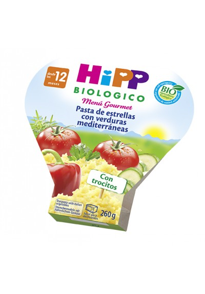 Potitos HIPP ecológicos Pasta de estrellas con Verduras 260gr 12M+