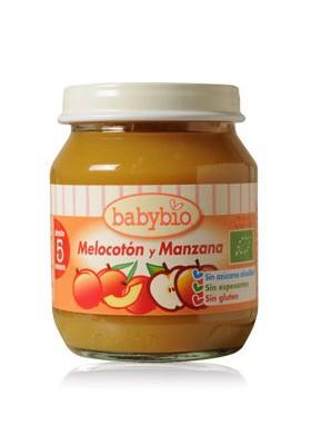 BABYBIO potitos ecológicos Melocotón y Manzana Bio 4M+ 130gr