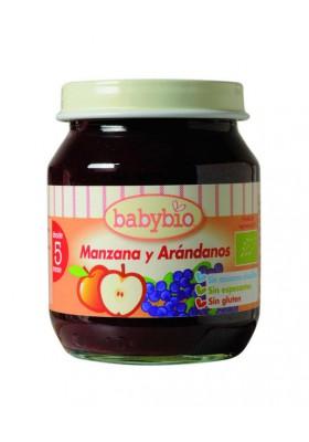 BABYBIO potitos ecológicos Manzana y Arándanos Bio 4M+ 130gr
