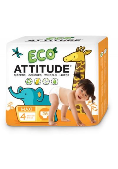 Pañales ecológicos Attitude 9-14 kg 26 unidades