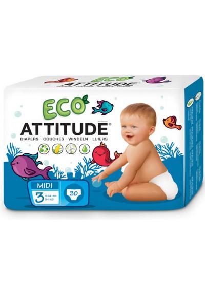 Pañales ecológicos Attitude (5-11 kg) 36 unidades