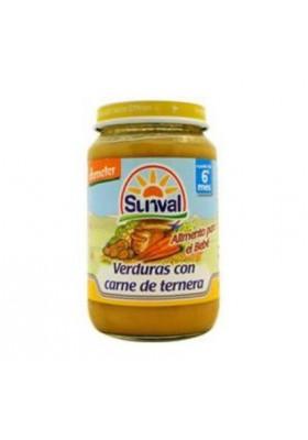 Potito Sunval Ternera y Verdura 6m+
