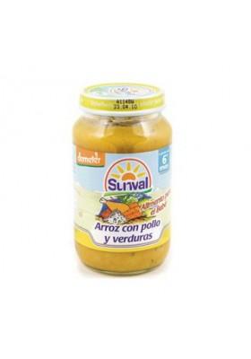 Potito Sunval Arroz con Pollo y Verduras 220gr 6m+