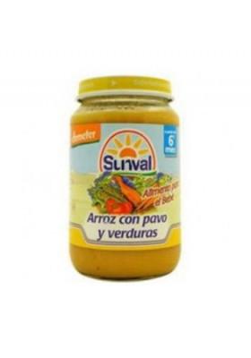Potito Sunval Arroz con Pavo y Verduras 190gr 6m+