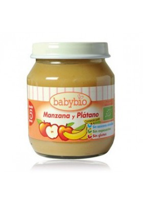 Potitos Babybio Manzana & Plátano 5M+ 2x130gr