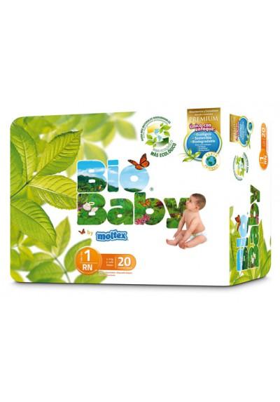 Pañales ecológicos Bio Baby 3-6kg Talla 1 20 und