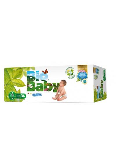 Pañales ecológicos Bio Baby 9-13 kg Talla 4 34 und