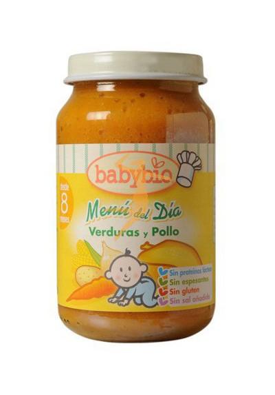 BABYBIO potitos ecológicos Verduras con Pollo 8M+ 200gr
