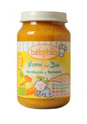 BABYBIO potitos ecológicos Verduras y Ternera 8M+ 200gr