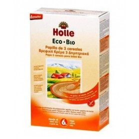 Papillas Holle 3 cereales 6M+ 250gr